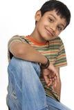 Indian boy in indoors. Portrait of Cute boy in indoors Stock Image