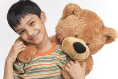 Indian boy in indoors Royalty Free Stock Image