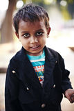 Indian boy market with ash against evil eye nazar Royalty Free Stock Photography