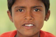 Indian Boy. NIMAJ BAGH, INDIA, FEBRUARY 28: An unidentified boy inside the village of Nimaj Bagh, Rajasthan, Northern India on FEBRUARY 28, 2012. The village has Stock Photo