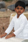 Indian Boy at Playground Royalty Free Stock Images