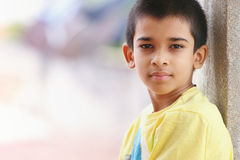 Indian Boy Posing to Camera. Portrait of Indian Boy Posing to Camera stock photo