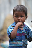 Indian Boy in Poverty Royalty Free Stock Photography