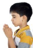 Indian Boy Praying Royalty Free Stock Photos