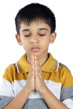Indian Boy Praying Stock Images