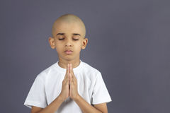 Indian Boy Praying. Portrait of Indian Boy Praying Stock Images