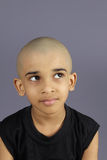 Indian Boy with Shaved Head. Portrait of Indian Boy with Shaved Head Royalty Free Stock Photos