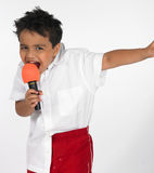 Indian boy singing song Royalty Free Stock Image