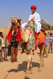 Indian boy in traditional dress taking part in Desert Festival, Stock Images