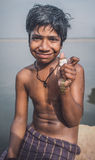 Indian boy with watch Royalty Free Stock Images