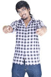 Indian Boy On white background Royalty Free Stock Images