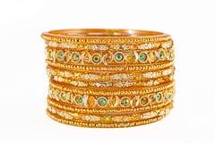 Indian bracelets isolated Royalty Free Stock Photos