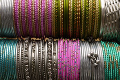 Indian bracelets. Royalty Free Stock Image