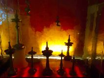 Free Indian Brass Oil Lamps Royalty Free Stock Image - 56669366