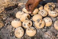 Indian bread baking Stock Photos