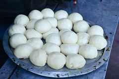 Indian bread preparation Stock Image