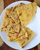 Indian bread,Puran Poli royalty free stock image