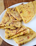 Indian bread,Puran Poli Royalty Free Stock Images