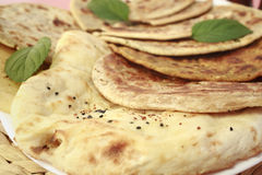 Indian Bread Selection Nan Roti Curry Royalty Free Stock Photography