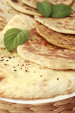 Indian Bread Selection Nan Roti Curry Stock Image