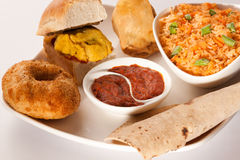 Indian breakfast snacks Stock Photography