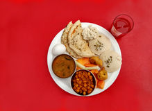 Indian breakfast thali Stock Images