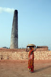 Indian Brick field Royalty Free Stock Image