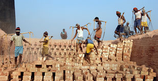 Indian Brick field Stock Images