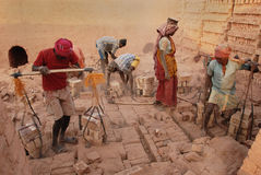Indian Brick field Stock Photography