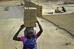 Indian brick field labor Stock Photography