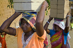 Indian brick field labor royalty free stock photos