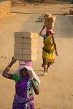Indian brick field labor Royalty Free Stock Image