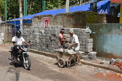 Indian bricklayers Royalty Free Stock Photography