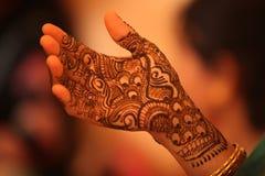 Indian Bridal Henna Stock Photos