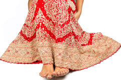 Indian Bridal lehnga. Red Indian bridal lehnga, dress worn by bride in India on her marriage function Stock Photography