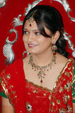 Indian Bride. A portrait of smiling indian bride Royalty Free Stock Images