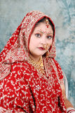 Indian bride. Beautiful shot of young indian bride Royalty Free Stock Photo