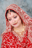 Indian bride. Beautiful shot of young indian bride Royalty Free Stock Photos