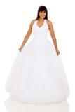 Indian bride. Beautiful indian bride isolated on white background Stock Photo