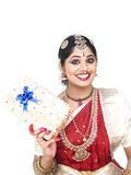 Indian bride with a gift box Stock Image