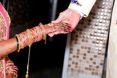 Indian Bride & Groom Hands. Indian Bride Stock Images