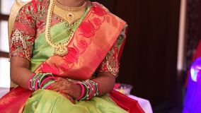 Indian Bride Hand with jewelry stock video