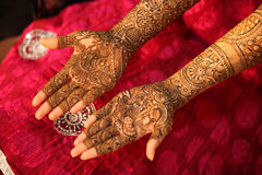 Indian Bride Hands Royalty Free Stock Images