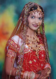 Indian Bride In Red stock image