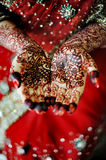 Indian bride's hand Stock Images