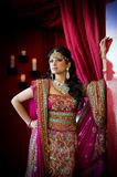 Indian Bride Standing. Image of a beautiful Indian bride standing royalty free stock image