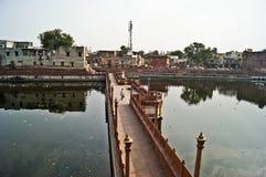 Indian bridge. Old town in Jodhpur-India Stock Photos