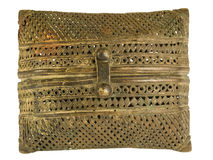 Indian bronze filigree purse. Antique Indian bronze filigree purse Stock Photography