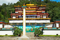 Indian buddhistic monastery Royalty Free Stock Images