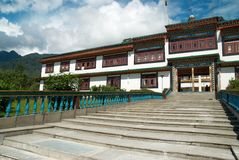 Indian buddhistic monastery Royalty Free Stock Photos